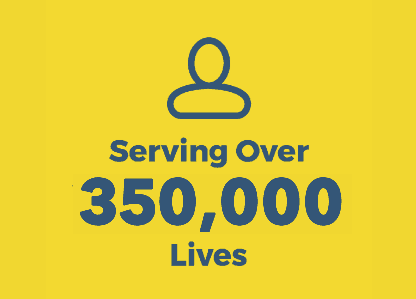 Serving Over 350,000 Lives