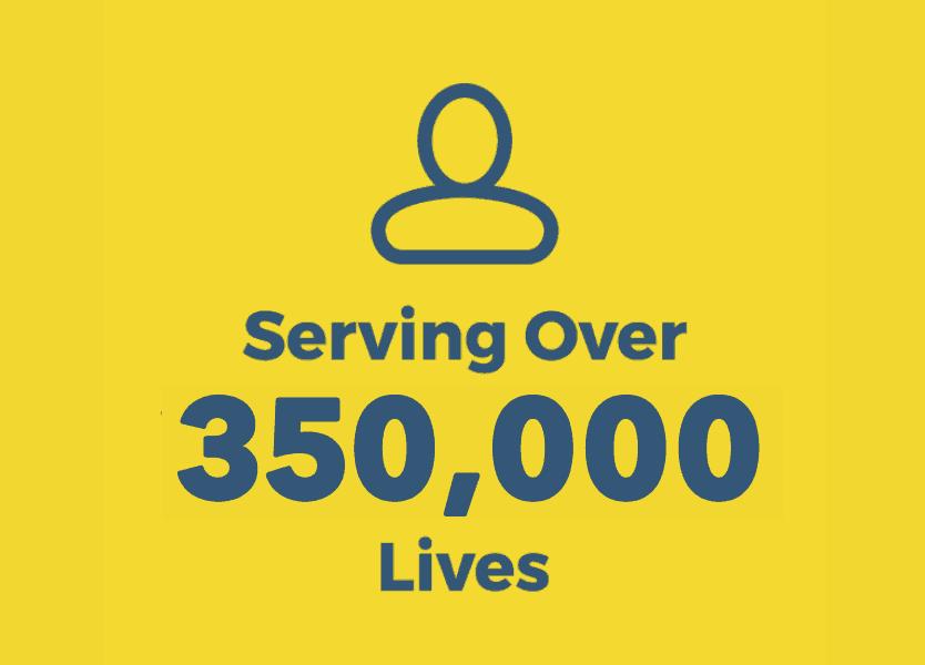 Serving Over 350,000 Lives